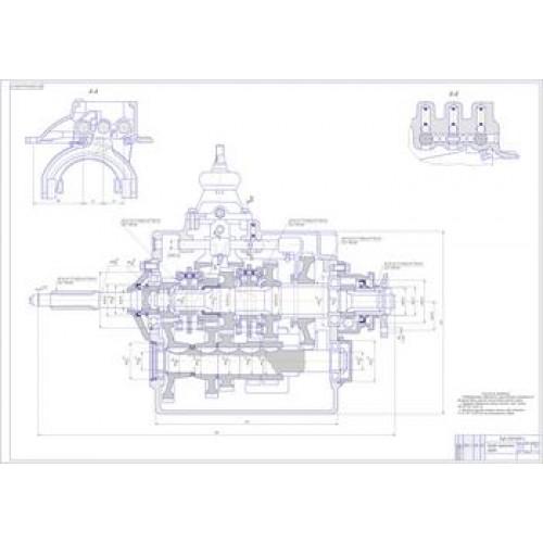 Чертеж КПП ЗиЛ-5301