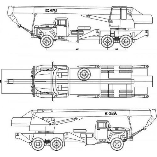 Чертеж автокрана КС-3575 А на