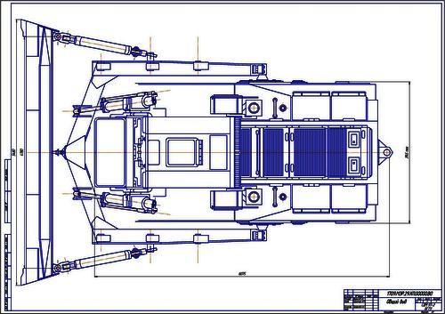 Чертеж бульдозера Т-330 вид