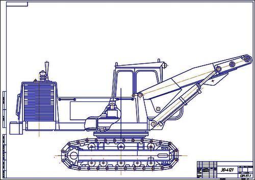 Чертеж экскаватора ЭО-4121