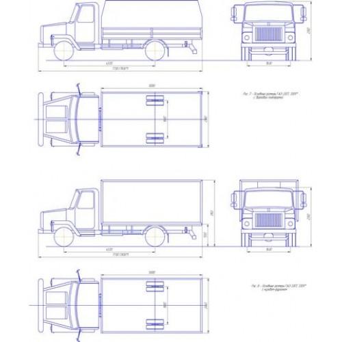 Чертеж ГАЗ-3307 удлиненный с