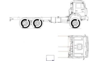 Чертеж КамАЗ-43118, общий вид (2)
