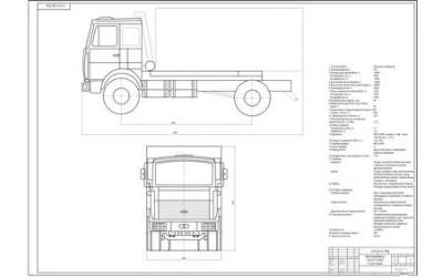 Чертеж МАЗ-5335, общий вид