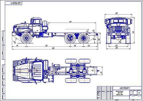 шасси Урал-4320, общий вид