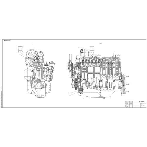 Чертеж двигателя Д-260