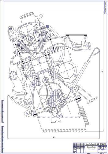 412 разрез двигателя: