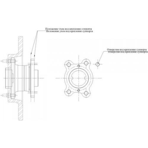 Чертеж задней ступицы ВАЗ-2108