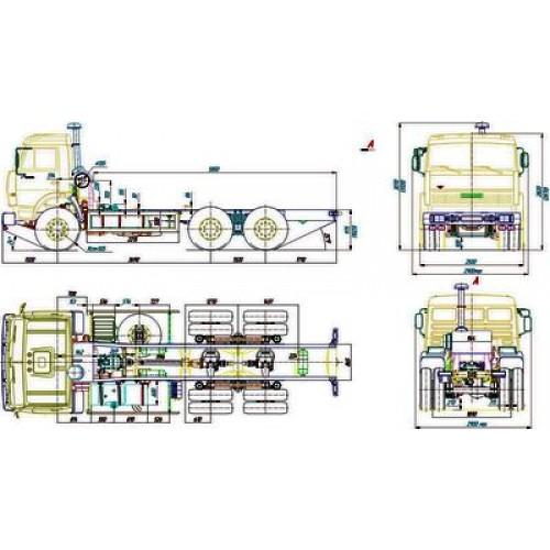 Чертеж шасси КамАЗ-53229